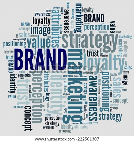 Brand in word collage - stock photo