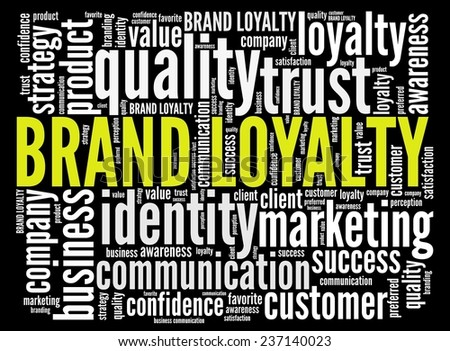 Brand Loyalty in word collage - stock photo
