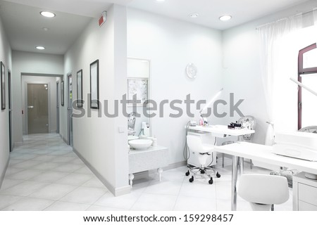brand new and empty european luxury medical clinic - stock photo