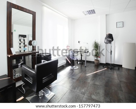 Beauty salon interior stock photos images pictures for A fresh start beauty salon