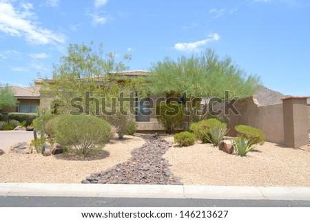 Brand New Luxury Home in Scottsdale, Arizona  - stock photo