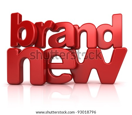 brand new text 3d isolated over white background - stock photo
