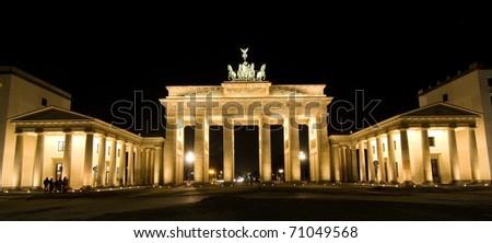 BRANDENBURG GATE, Berlin, Germany. - stock photo