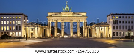 Brandenburg Gate. Image of Brandenburg Gate in Berlin, Germany.  - stock photo