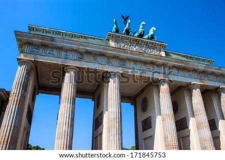 Brandenburg Gate in Berlin, Germany - stock photo