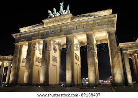 Brandenburg Gate in Berlin - Germany - stock photo