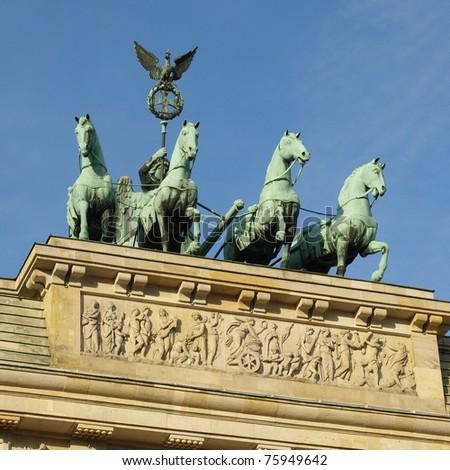 Brandenburger Tor (Brandenburg Gate), famous landmark in Berlin, Germany - stock photo