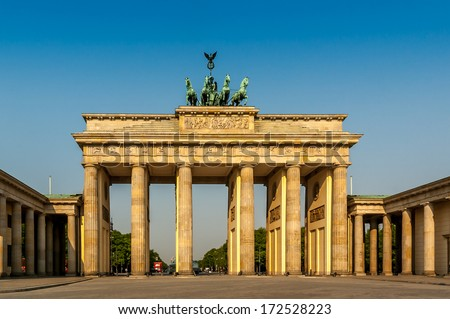Brandenburger Tor (Brandenburg Gates) in Berlin, Germany - stock photo