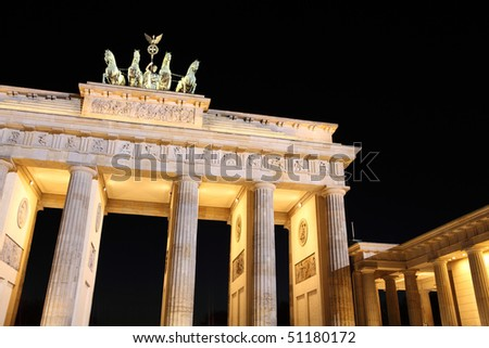 Brandenburger Tor in Berlin, Germany - stock photo