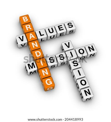branding (orange-white crossword puzzles series) - stock photo