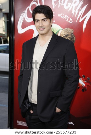 "Brandon Routh at the Los Angeles Premiere of ""Scott Pilgrim vs. The World"" held at the Grauman's Chinese Theater in Los Angeles, California, United States on July 27, 2010. - stock photo"