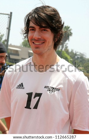 Brandon Routh at the Soccer for Survivors Celebrity Showcase Match. Beverly Hills High School, Beverly Hills, CA. 07-22-07 - stock photo
