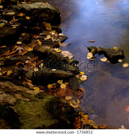 Brandywine Creek in Autumn, Chester County, Pennsylvania - stock photo