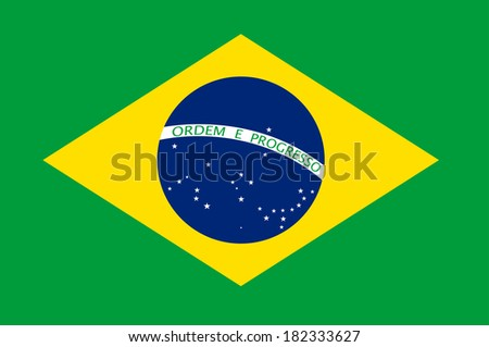 Brasil flag illustration. (EPS vector version also available in portfolio) - stock photo