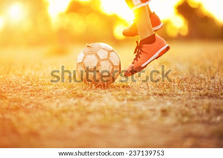 Brasilian Street Football - stock photo