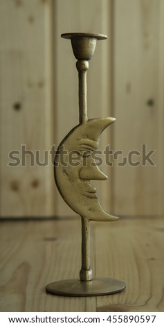 brass ornament moon style - stock photo