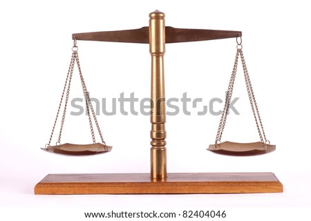 Brass Scale - stock photo