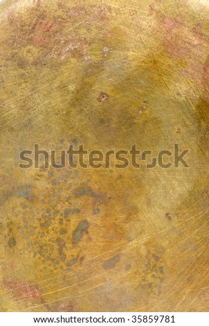 brass yellow metal - stock photo