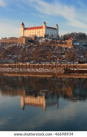 Bratislava castle - stock photo
