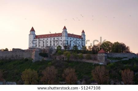 Bratislava castle, Slovakia - stock photo