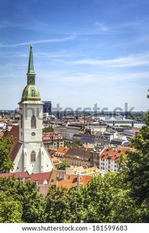 Bratislava skyline, Slovakia - stock photo