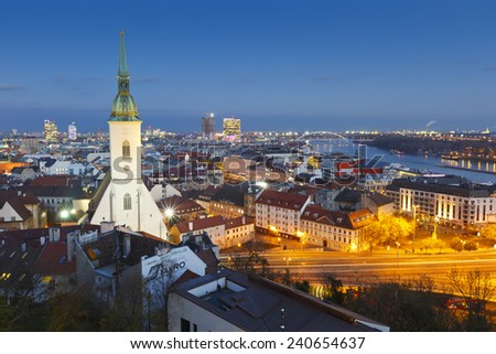 Bratislava, Slovakia - November 19 2014: St. Martin's cathedral in Bratislava, Slovakia. - stock photo