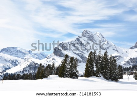 Braunwald, Switzerland - stock photo