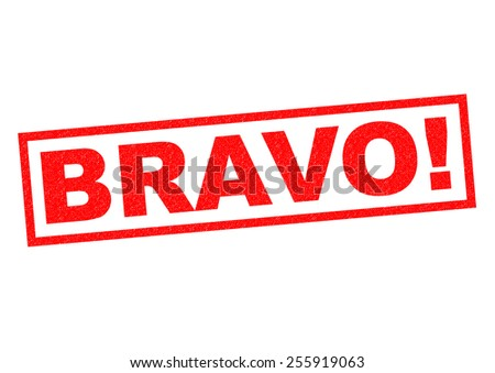Bravo Red Rubber Stamp Over A White Background Stock Photo