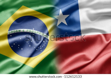 Brazil and Chile - stock photo