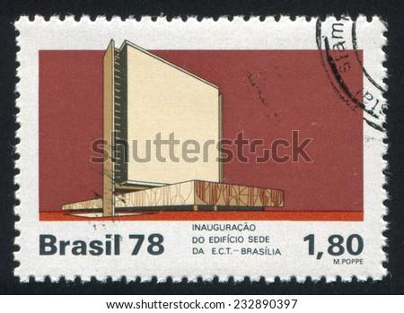 BRAZIL - CIRCA 1978: stamp printed by Brazil, shows  building, circa 1978 - stock photo