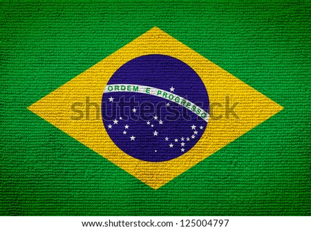 Brazil flag towel texture as a background - stock photo