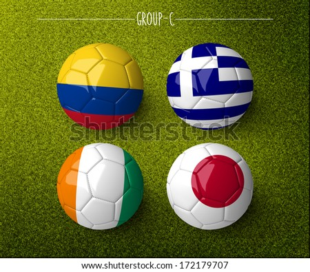 Brazil 2014, group C. (org. size: 3000x2500px) - stock photo