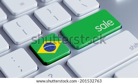 Brazil High Resolution Sale Concept - stock photo