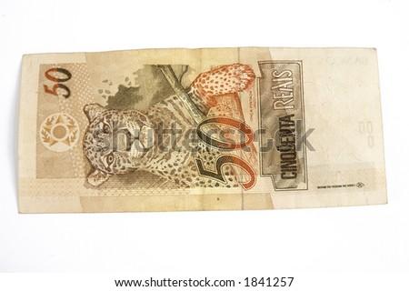 "Brazilian ""Animal"" money 50 Real - stock photo"