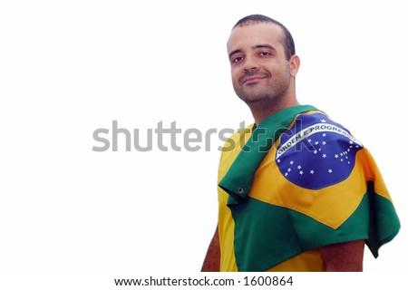 Brazilian Fan back - stock photo