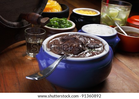 Brazilian feijoada - stock photo