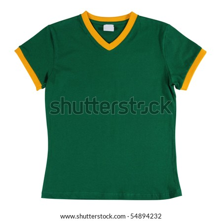 Brazilian football T-Shirt. Isolated - stock photo