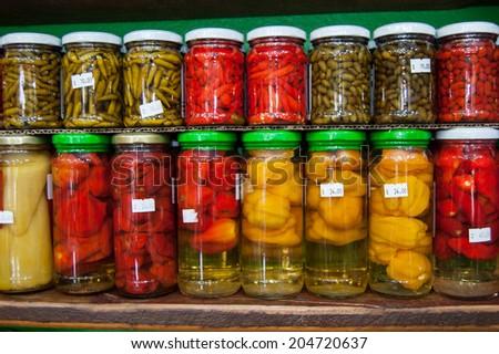 Brazilian hot chilli peppers - stock photo