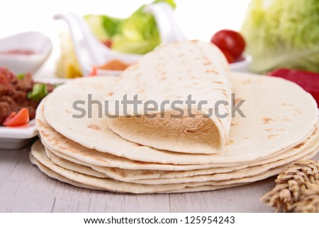bread and ingredient - stock photo