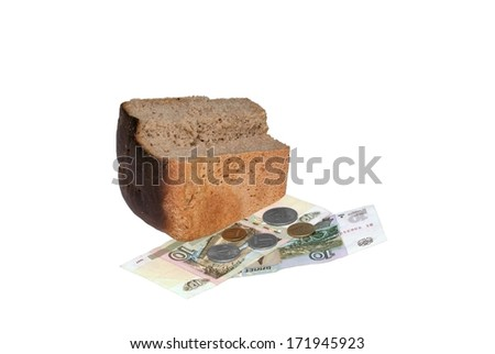 Bread and money - stock photo