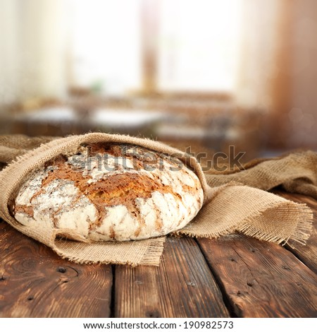bread and napkin  - stock photo