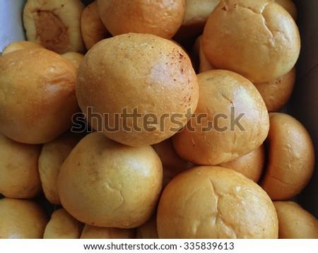 Bread background staple food - stock photo