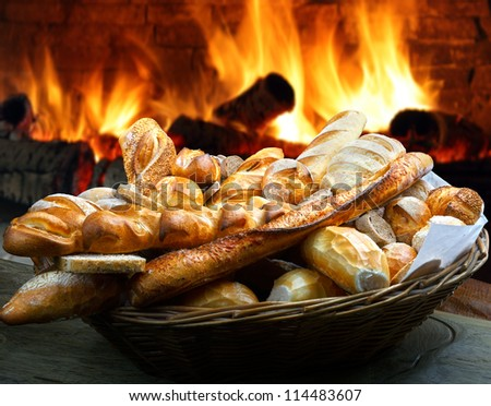 Bread basket - stock photo
