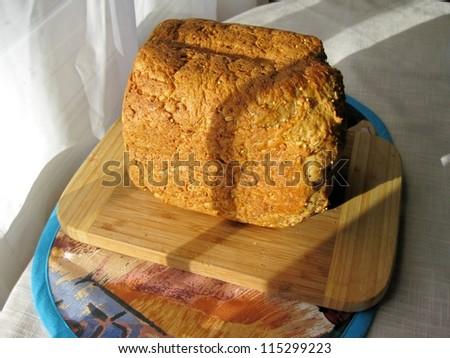 Bread by machine - stock photo