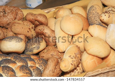 bread for events and weddings wedding buffet - stock photo