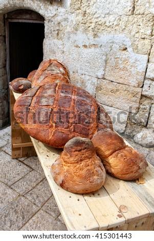 Bread from Altamura - stock photo