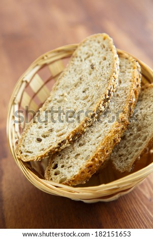 Bread in the basket - stock photo