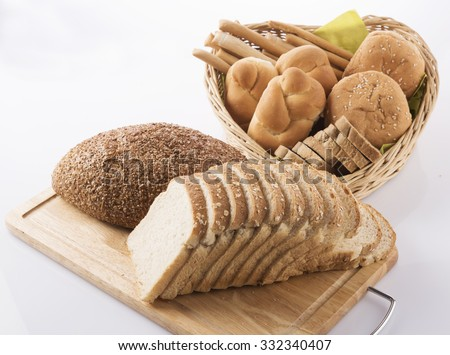 bread, loaf,breads sticks - stock photo
