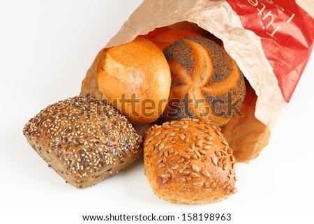 bread roll - stock photo