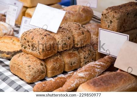 bread shop - stock photo